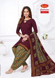 Unstitched Cotton Salwar Kameez Material