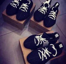 Black Unisex Adidas Yeezy 350 Shoes