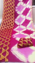 Pure Najmin Chiffon Zari Fabric Sarees