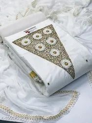 01 white suits and dress material