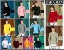 Round Full Sleeves Zara Men T Shirts