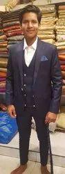 3-Piece Suit V Neck Jackrt Mens Suits