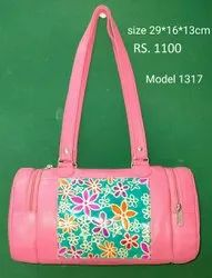 Printed Finish Leather & Shanti Leather Fancy Bags