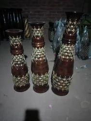 Decorative Wooden Flower Pots Set