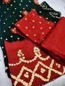 Pure Glace Cotton Bhandhni Suits