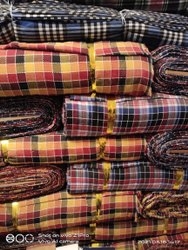 Mix Polyester Cotton Mattress Gadda Dobi Check For Mattress Cover 52