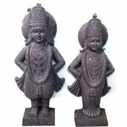 Marble black bitthal rukamani  statue