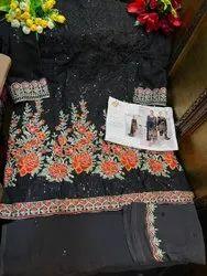 Party Wear Unstitched Georgette Salwar Kameez