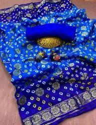 Banarsi Bandhej Saree