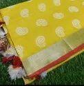 Leaf Weaving Linen Sarees