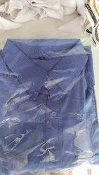 Blue Collar Neck Shirt cotton, Machine wash, Size: 36 Or 38
