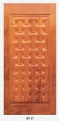 Exterior Teak Wood Carving Door with machine polish