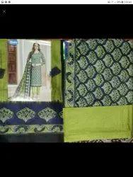 ARIHANT brisses Unstitched Women fancy 100 % cotton suit, Machine wash