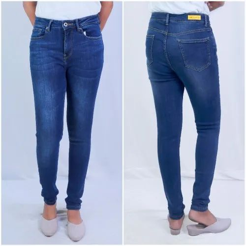 Women' S Skinny Jeans High Waist Mid Wash