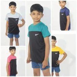 Polyester Round Kids Sports T Shirt