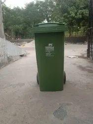 Nilkamal Waste Bin Green 120 L