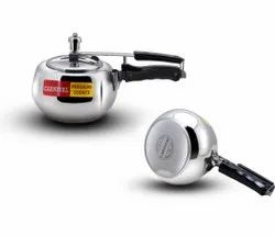 Carnival 3 ltr steel Elite pressure cooker, For Hotel/Restaurant