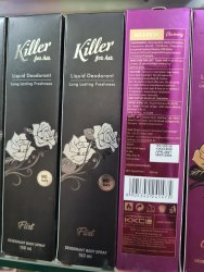 Spray Killer Women Deodorant, For Personal, Packaging Size: 150mL