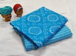 Hand block printed pure cotton fabric