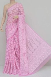 8 colours Party Wear Georgette full jaal handwork 6.25 meter saree