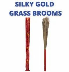 Silky Gold Grass Brooms
