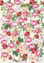 Floral Print Pure Cotton Fabric Printing, Digital Prints, Multicolour