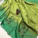 Jute Organza Silk Weaving Work Sarees