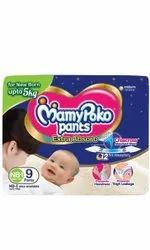 Cotton NB-1 9Extra Absorb Mamy Poko Pants Diapers, Age Group: Newly Born, Packaging Size: 10 Pieces
