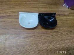 BAJRANG White Acrylic Soap Dish Oval Milky