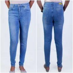 Women'S Skinny Jeans High Waist Light Wash