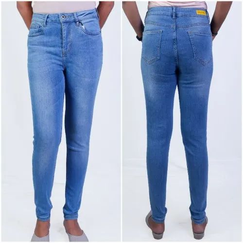 Women' S Skinny Jeans High Waist Light Wash