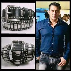 Male Black Salman Khan Designer Leather Belt