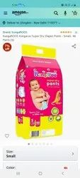 Nonwoven Pant Diapers Kangaroo Baby Diaper, Age Group: 3-12 Months, Packaging Size: 46 Pcs S M L Size