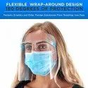Face Shields with Glasses Frames - Ultra Clear Protective Full Face Shields to Protect