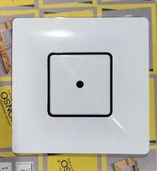 White And Black Border (fancy) Polycarbonate 5 Inch Modular Ceiling Rose, For Electric Fitting
