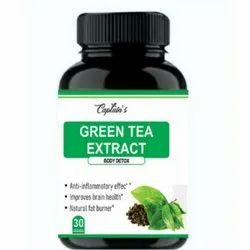 Captain Herbal Green Tea Extract Capsules, Non prescription, Packaging Type: Bottle