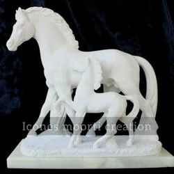 Marble Hours Statue