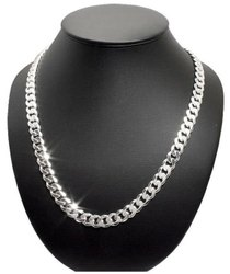 92.5% Round Silver Chain, 25 To 150gm, Size: 12 To 24 Inches