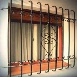 Metal Component Mild Steel Ms Window Grill, For Industrial