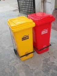 Pedal Dustbin 120L With Wheels
