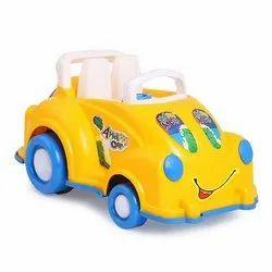 Yellow Plastic Toy Car, No. Of Wheel: 4