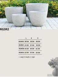 Custom Made Decorative Garden Frp Planter, Size: Standard