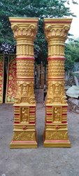 Gold&copper Fiber Decorative Items, Size/Dimension: Height 8 Ft
