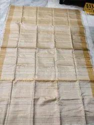 Plain Tussar Silk Fabric