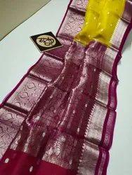Banarasi Handloom Organza Silk Weaving Sarees