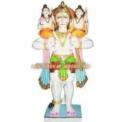 Marble hanuman ji with ram laxman