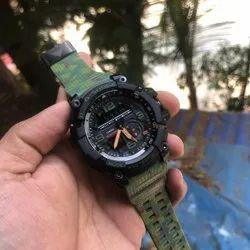 Men Round G Shock Mudmaster Wrist Watch, For Daily