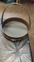 Brown MDF Hamper Round Basket, Size/Dimension: 12inch, 450gm