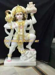Marble Veer Hanuman Ji Moorti