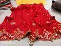 Pure Chinon Crape Silk Sarees